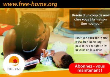 FREE-HOME, la solution pour trouver une domestique,un artisan et un répétiteur dans vos maisons